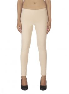 Soie White Solid Leggings(product Code)_l-18beige 4_