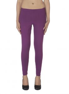 Triveni,Platinum,Port,Mahi,Clovia,Estoss,Soie Women's Clothing - Soie White Solid Leggings(Product Code)_L-18D.Purple 8_