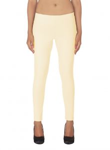 Kiara,La Intimo,Soie,Surat Tex Women's Clothing - Soie White Solid Leggings(Product Code)_L-18Ivory 3_