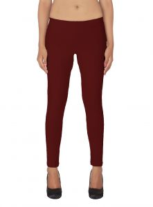 Soie White Solid Leggings(product Code)_l-18maroon 15_