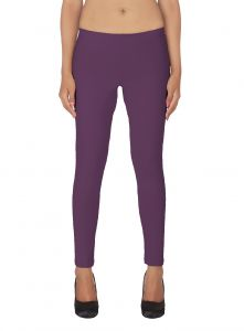 Lime,Surat Tex,Soie,Surat Diamonds,Flora,Tng,Sinina Leggings - Soie White Solid Leggings(Product Code)_L-18Purple 6_