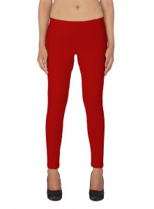 Soie White Solid Leggings(product Code)_l-18red 7_