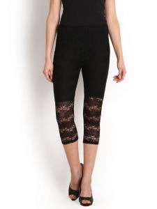 Lime,Surat Tex,Soie,Jagdamba Leggings - Soie Fashion 34Th Raschal Legging(Product Code)_L-31Black_