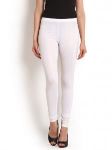 Hoop,Shonaya,Soie Leggings - Soie Fashion Legging, Imported Shimmer Fabric(Product Code)_L-36White Gold_