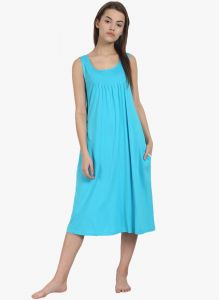 soie,flora,oviya Nightgown Sets - Soie Womens Solid Sleep Shirt - (code - NT-63BUBBLE GUM)