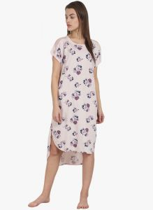 Soie Womens Floral Printed Sleepshirt - (code - Nt-61flower Blotch)