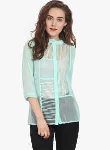 Soie Womens Green Polyester Top - (code - 6770(i)green)