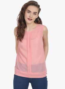 Soie Womens Light Pink Polyester Top - (code - 6743(i)pink)