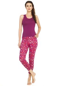 Soie Multicolor Cotton / Spandex Night Suit For Women (code - Nt-17folks)