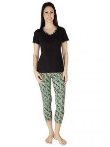 SOIE Multicolor Cotton Spandex Night Suit For Women (Code -  NT-28BUTTERFLIES-2) 6f73392dd