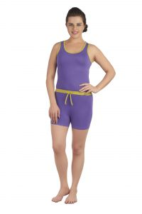 Soie Purple/green Cotton / Spandex Night Suit For Women (code - Nt-6purple&green)
