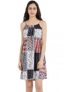 Soie,Unimod,Vipul Women's Clothing - Soie Women's Printed Spaghetti Dress (Code - OL-13PRINT)