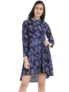 Soie,Port,Ag,Asmi,Clovia,Oviya,Shonaya Women's Clothing - Soie Women's Printed Dress (Code - OL-40PRINT)