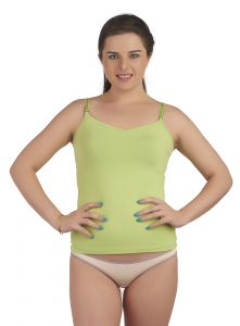 Soie Lime Green Cotton / Spandex Inner For Women (code - Sc-3lime_green)