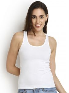 Soie White Cotton Spandex Inner For Women (code - Sc-6white)