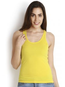 Soie Yellow Cotton Spandex Inner For Women (code - Sc-6yellow)