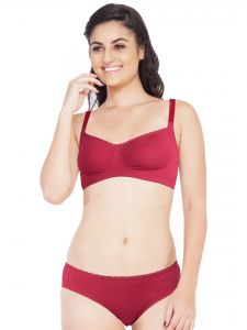 Soie Cotton Spandex Bra With Matching Panty (code - Set 314+1314fuschia)
