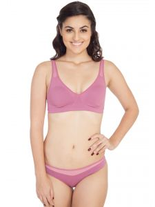 Soie Molded Padded Bra And Matching Panty (code - Set 315+1315mauve)