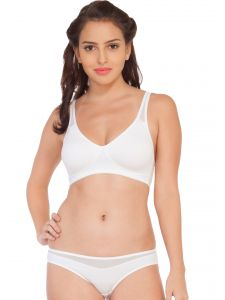 Soie Molded Padded Bra And Matching Panty (code - Set 315+1315white)
