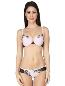 Soie Blushing Bride Print Wired Padded Bra And Matching Panty (Code - SET 516+1516BLUSHING BRIDE)