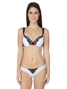 Soie Lingerie - Soie Mesh Coloured Wired Padded Bra and matching panty (Code - SET 517+1517MESH)