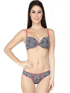 Soie Lacy Push Up Under Wired Bra With Panty (code - Set 519+1519lacy)