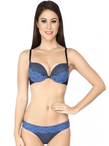 Jagdamba,Surat Diamonds,Valentine,Jharjhar,Asmi,Soie,Lime Women's Clothing - Soie Mauva Cleavage Boosting Push underwired Bra and Panty Set (Code - SET 520+1520MAUVE)