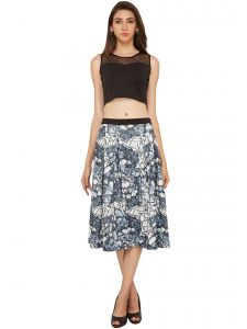 Soie Printed Flared Skirt (product Code - Sk-30)