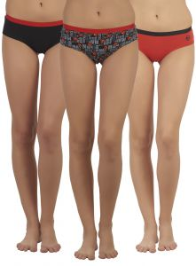 Soie Multicolor Cotton Panty For Women Pack Of 3 (code - Sm-1super_pack)