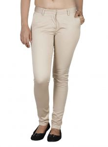 Soie Mid-waist Slim Fit Basic Trousers (product Code)_t-9beige_