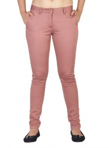 Soie Women's Clothing - Soie Mid-Waist Slim Fit Basic Trousers (Product Code)_T-9Sienna_