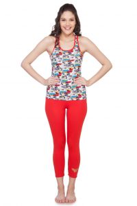 Soie Wwn Aop/red Cotton Night Suit For Women (code - Wwo-5wwn_aop&red)