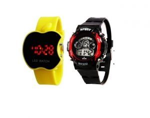 Strap (Misc) - Apple Led Yellow & Kids Red watch