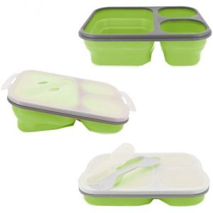 Aqua Polo Silicon Collapsible Green Lunch Box
