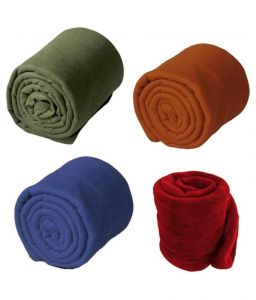 Peponi Multicolor Plain Combo Of 3 Fleece Blanket