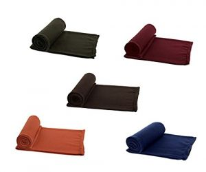 Peponi Multicolor Single Bed Super Lite Blanket Pack Of 5