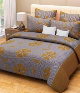 Peponi Multicolor Cotton 1 Double Bedsheet With 2 Pillow Cover