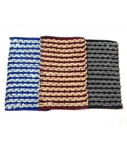 Peponi Multicolour Stripes Cotton Floor Mat Set Of 3