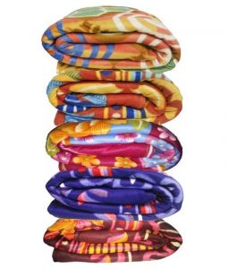 Peponi Multicolour Polyester Blanket Set Of 5