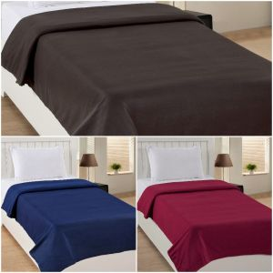 Peponi Multicolor Fleece Double Bed Super Lite Blanket Pack Of 3
