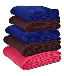 Peponi Set Of 5 Multi Color Double Fleece Blanket