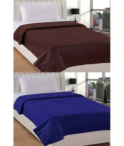 Jazz Multicolour Polyester Single Fleece Blanket (set Of 2) - (product Code - Jsingleset2polar309)