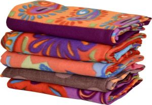 Peponi Floral Single Blanket Multicolor Fleece Blanket, 5 Blankets