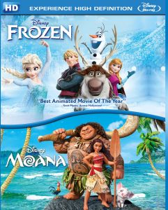 Children's Movies (English) - Moana and Frozen - BD