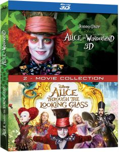 English Movies - Alice in Wonderland and Alice Through the Looking Glass - 3D BD