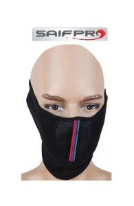 Saifpro Pollution Mask Half Face Cap For Bike Riding/walk/cycle/traffic Men Woman Black