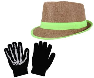 Sushito Combo Of Multi Colour Hat With Hand Gloves Jsmfhcp1140-jsmfhhg0037
