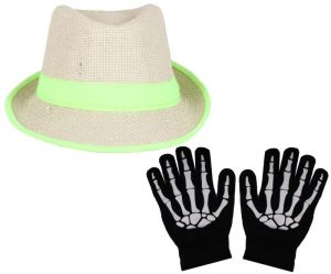 Sushito Combo Of Fidora Hat Women With Hand Gloves Jsmfhcp1305-jsmfhhg0037