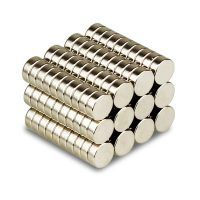 Magnets Magnetics Nickel Coated Magnet Dia. 8mm X 1.5mm Thk. - 50 Pcs.