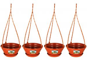 "Easy Gardening 8"" Decor Hanging Pots/planters Terracotta Color For Home Balcony"